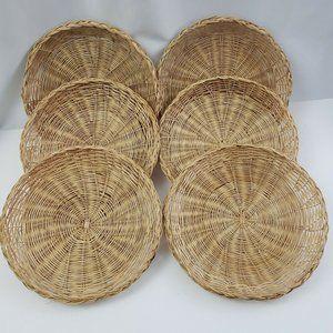 "Wicker Rattan Bamboo Paper Plate Holders 10"""